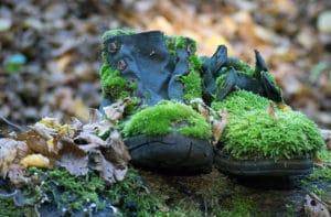 des chaussures pas adaptée au survivalisme